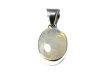 Oval MOONSTONE Sterling Silver 925 Gemstone Pendant