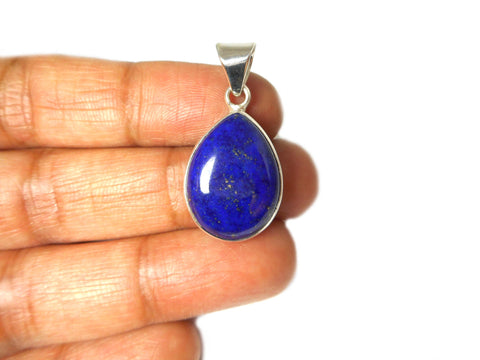 Afghanistani LAPIS LAZULI Sterling Silver 925 Pendant