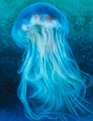 jellyfish painting by Victoria Moore