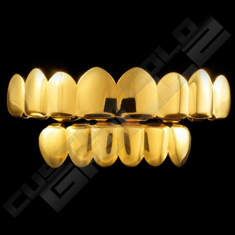 [PRE-MADE] Gold Plated 8 Tooth Premium Grillz