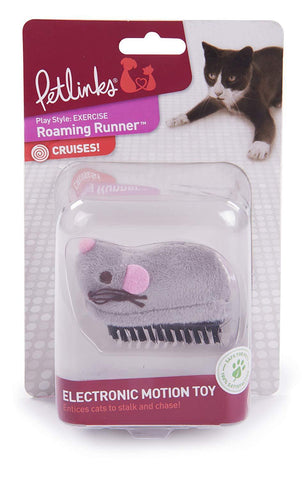 Roaming Runner Electronic Motion Dash Mouse E-Toy for Cats