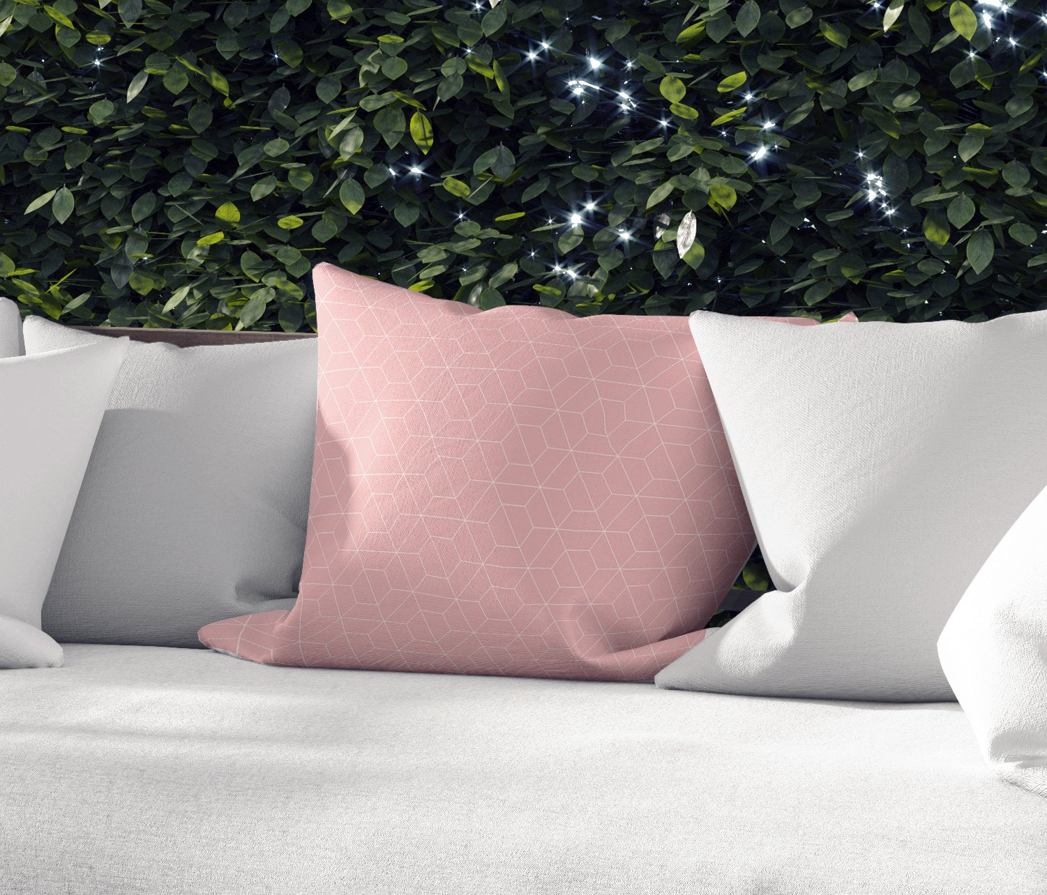 TRON PINK Indoor|Outdoor Pillow By Terri Ellis