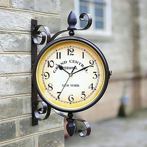 Vintage Double Face European Style Wall Clock