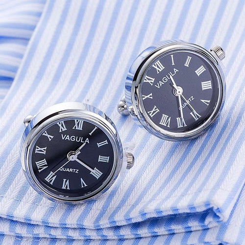 Real Battery Powered Watch Cufflinks Unique Gifts for Men