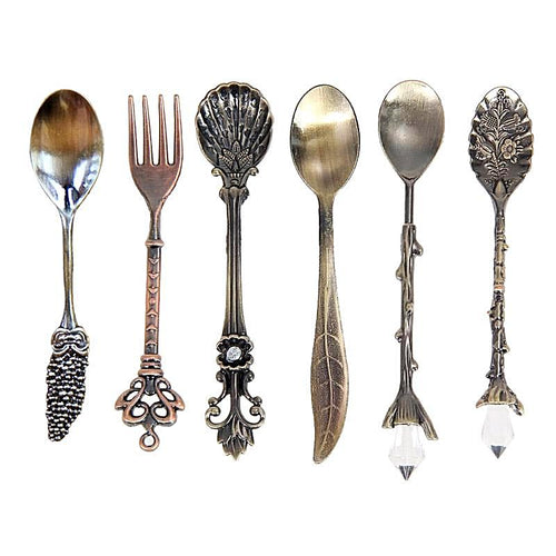 6pcs Set of  Vintage Dessert Spoons and Forks