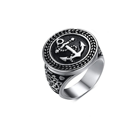 Anchor Stainless Steel Ring For Men Gifts for Men Nautical Jewelry