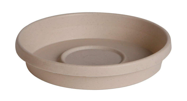 "Bloem Lawn & Patio Taupe 8"" Terra Plant Saucer Tray"