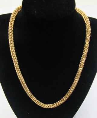 Beautiful handcrafted gold plated rope necklace with toggle clasp