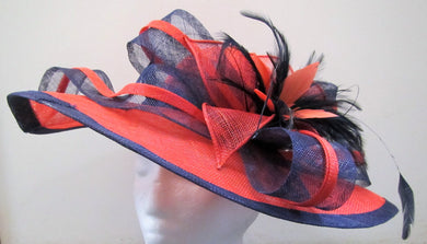 Handcrafted hatinator with bow feathers on a hair band various colours