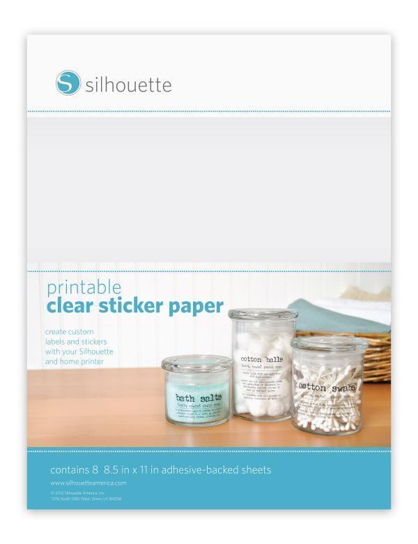 Silhouette Printable Clear Sticker Paper - clradh
