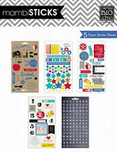 MAMBI Stickers 5 Sheets - Foil Stickers - I Heart School - PPS-38