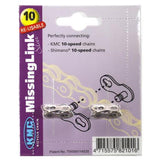 KMC Quick Chain Link 5.88MM 10SPD (2 Per Card) Silver Reuseable