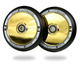 Root Scooter Wheels BLK/Gold 110MM