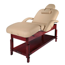 Claudia 30-Inch Stationary Massage Table - Spa Salon Beauty Bed W/ Pneumatic Tilting Backrest and Leg Rest - by Master Massage