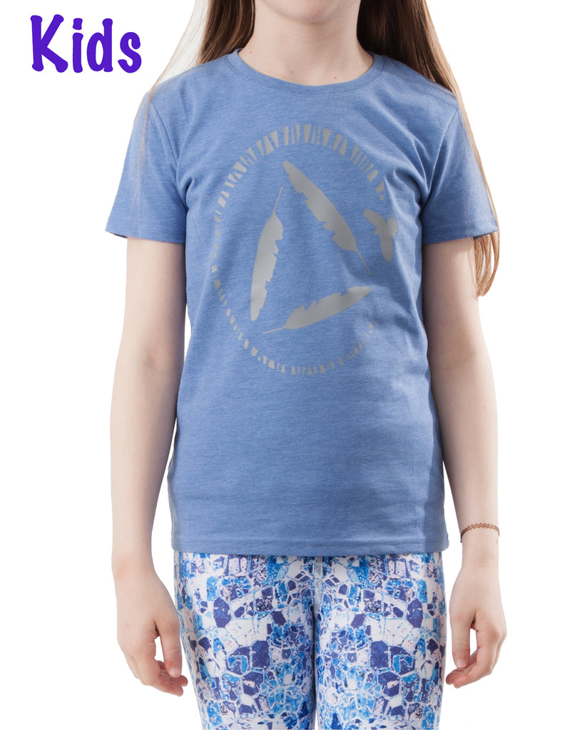Kids T-shirt BLUE MARL