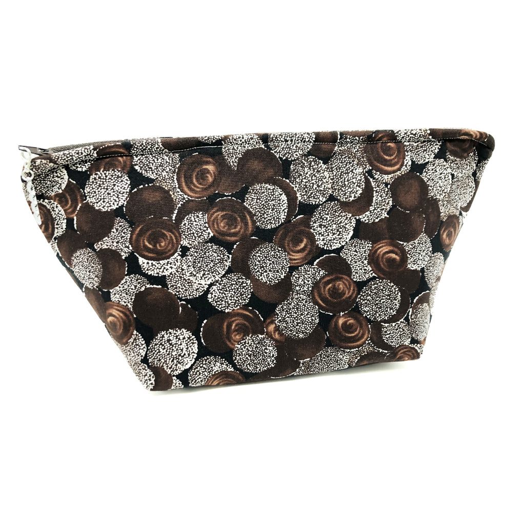 """Chocolate Nonpareils"" Wedge Cosmetic/Accessory Bag"