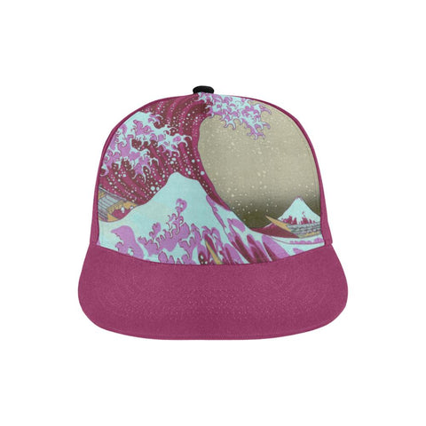 Pink Waves Off Kanagawa All Over Print Hat