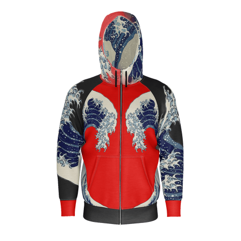 Great Waves of Rising Sun Equil Hoodie - Mens