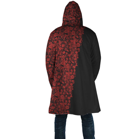 Lee's Excellent Hooded Coat - Red Roses
