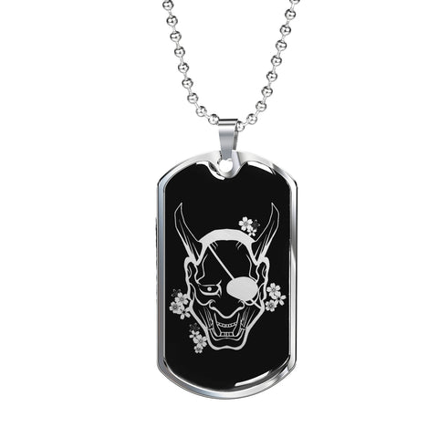 Hannya Dog Tag - Black Base