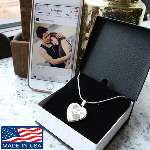 Create your own Photo Etched Heart Necklace