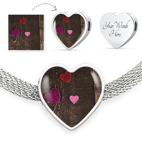 Create your own Heart Charm Bracelet (Luxury Steel)