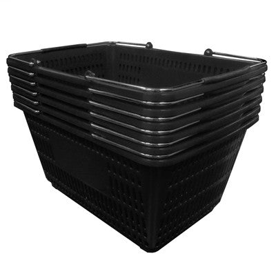 12 Pc Set Jumbo Shopping Baskets with Stands & Sign