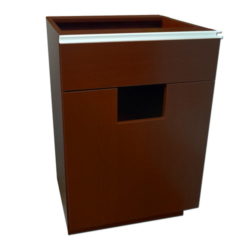 Trash Unit - Pharmacy Wood Undercounter