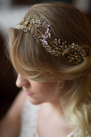 Rhinestone Wedding Halo Headband Vine