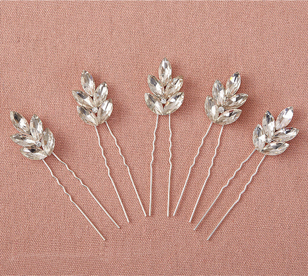 Set Of Five Handmade Bridal Accessory Hairpins