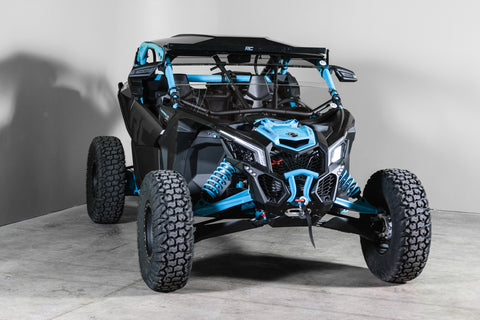 "Can-Am Maverick X3 With Intrusion Bars and Visor Half UTV Windshield 3/16"" - Scratch Resistant"