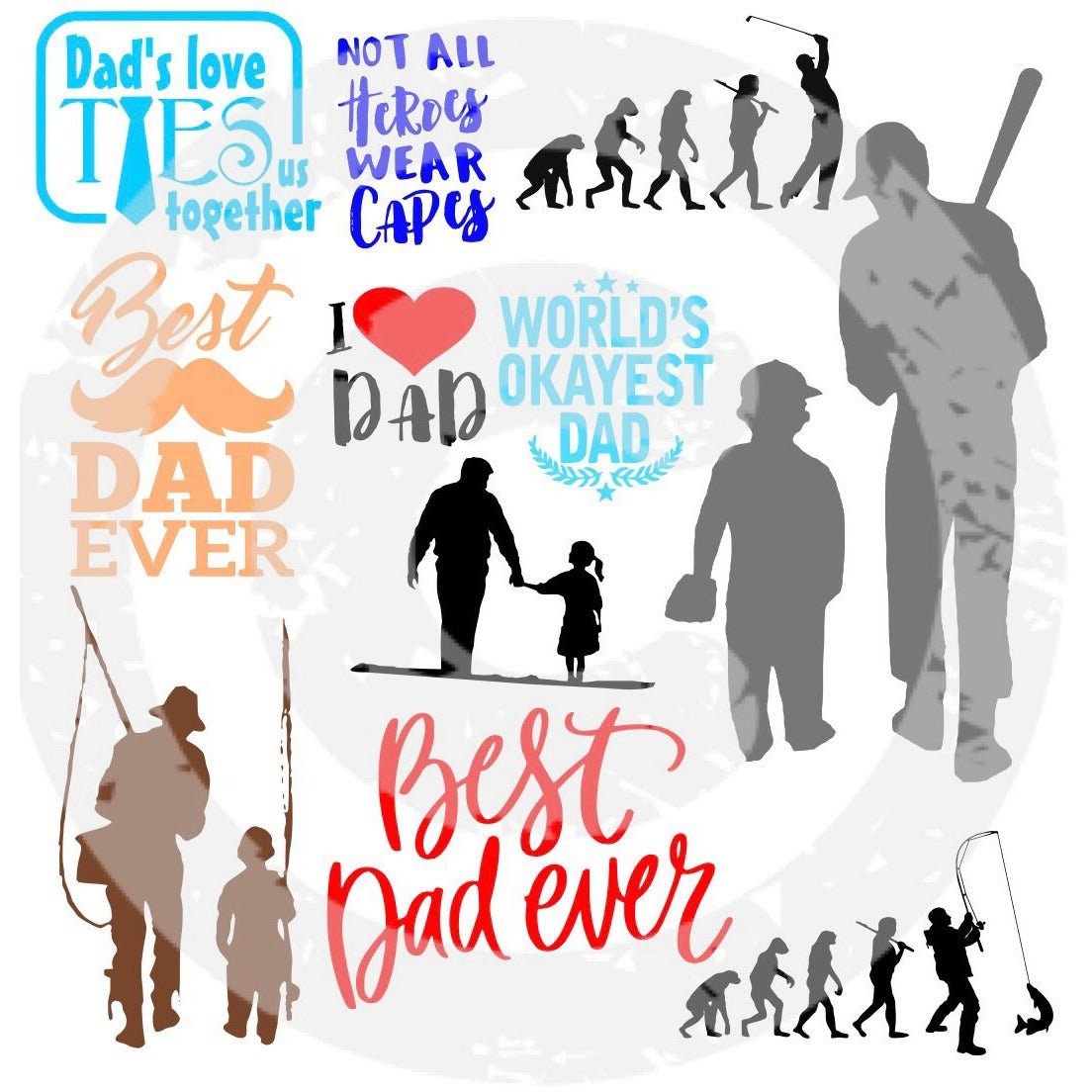 Father Bundle SVG - JPIBlanks.com