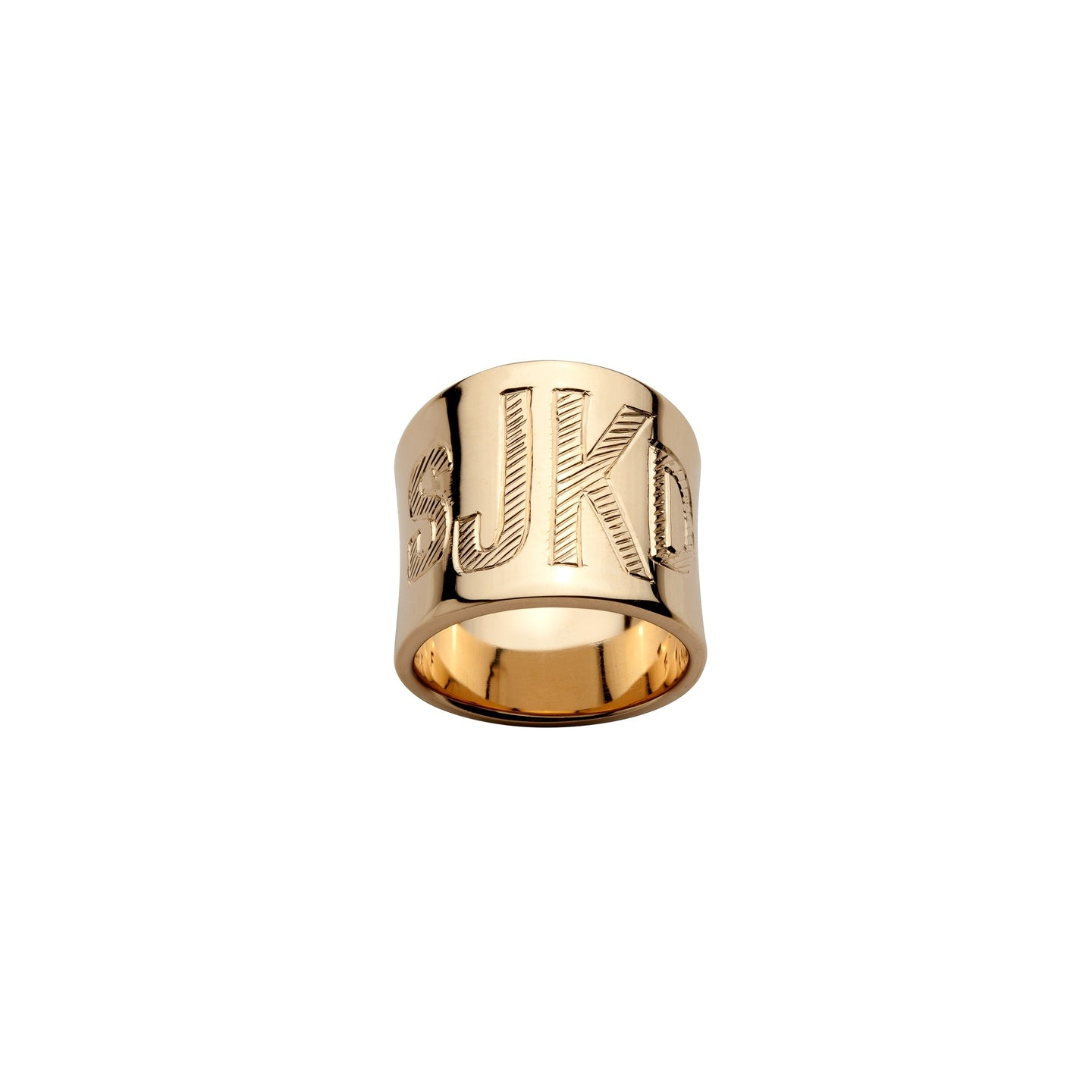 Cigar Band with Hand Engraved Monogram