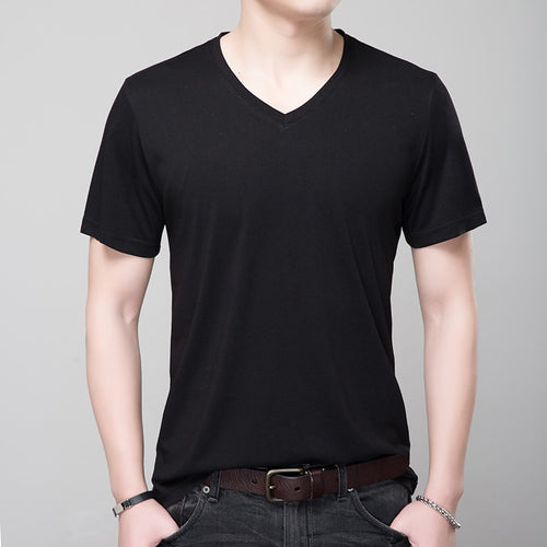 Mens Casual V Neck Tee