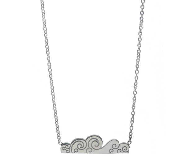 Elements Air Sterling Silver Bar Necklace