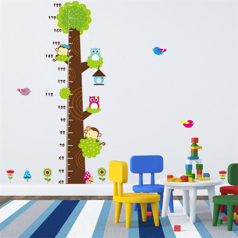 Monkeys and Owls Growth Chart-Watermelon Warehouse