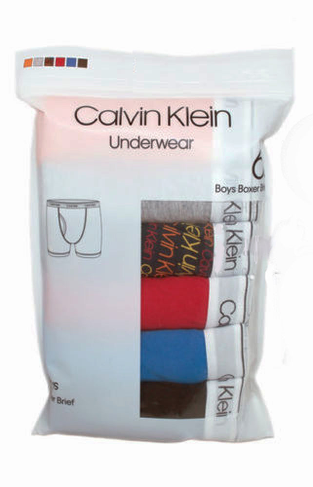 Calvin Klein Cotton Stretch Boys' Boxer Briefs (6 Pack)