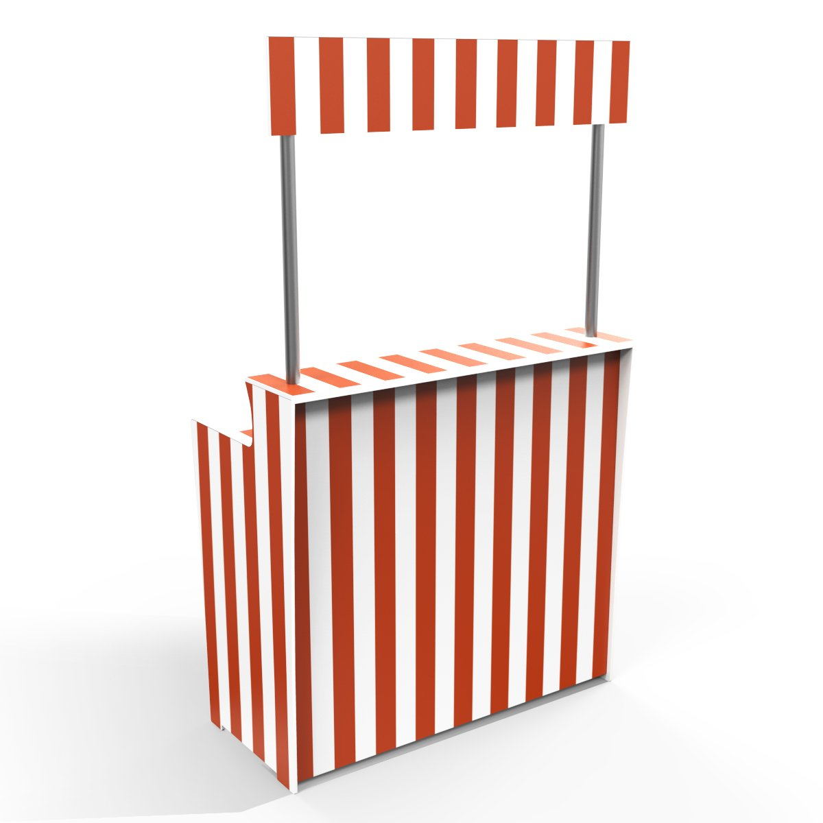 Orange Stripes 'Pop Up Bar'