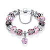 Silver Original Women Glass Charm Bracelet - Censtore