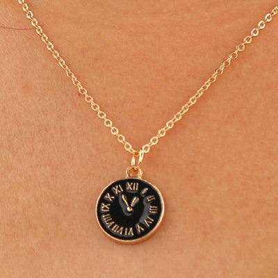 Tiny Time Pendant Necklace