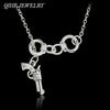 Lariat Style Handcuffs And Gun Necklace Partners In Crime Best Friend Jewelry