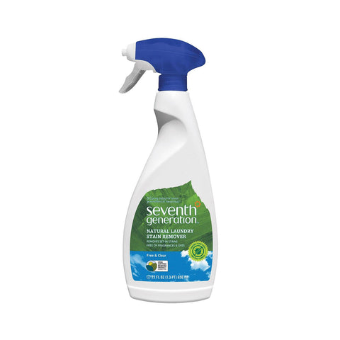 Seventh Generation Natural Laundry Stain Remover - Free And Clear - Case Of 8 - 22 Fl Oz.