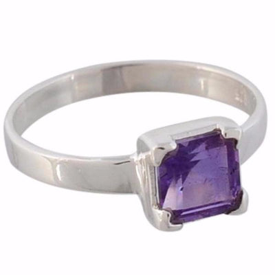 Arvino 925 Sterling Silver Cute Square Ring With Multi Stone Options-Arvino Online