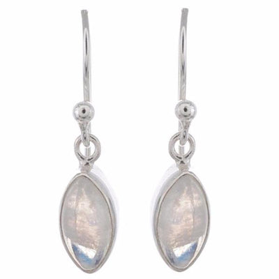 Arvino 925 Sterling Silver Dangle Earring With Rose Quartz Gemstone-Arvino Online