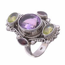 Arvino 925 Sterling Silver Ring with Amethyst Gemstone-Arvino Online