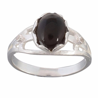 Arvino 925 Sterling Silver Ring With Blue Onyx Gemstone-Arvino Online