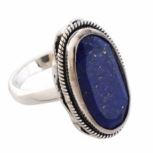 Arvino 925 Sterling Silver Ring With Lapis Gemstone-Arvino Online
