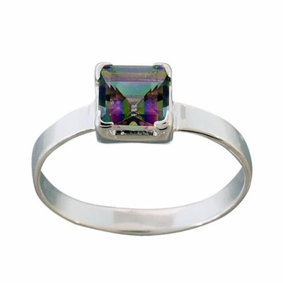 Arvino 925 Sterling Silver Ring With Mystic Quartz Gemstone-Arvino Online