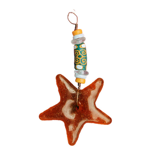 Strength Star Ornament Amber - Global Mamas (H) - Native Grace Fair Trade