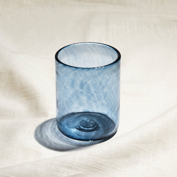 Steel Blue Water Glass